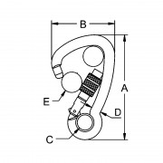 Fittings – Rated Screwgate Offset Hook