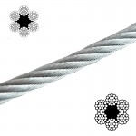 Galvanised Wire Rope Black