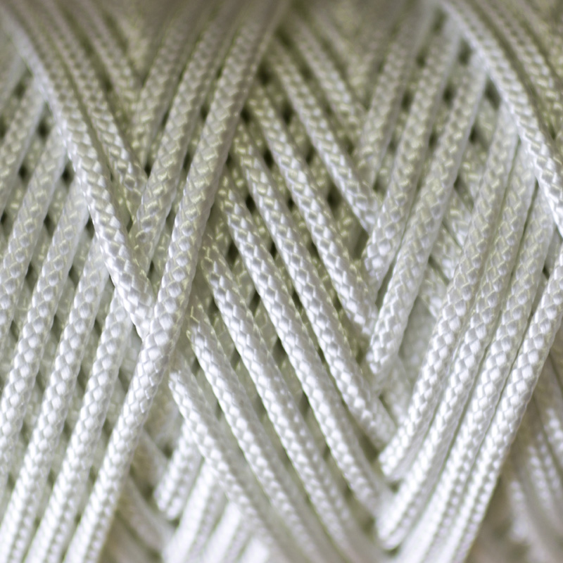Fibres & Cords - Nylon Braided Cord White