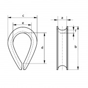 fittings-thimble-bs-464-technical-drawing